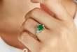 The 21 Most Stunning Emerald Engagement Rings | Who What We