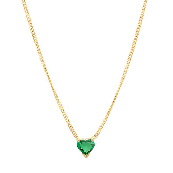 Heart Shaped Emerald Necklace – Dana Seng Jewelry Collecti