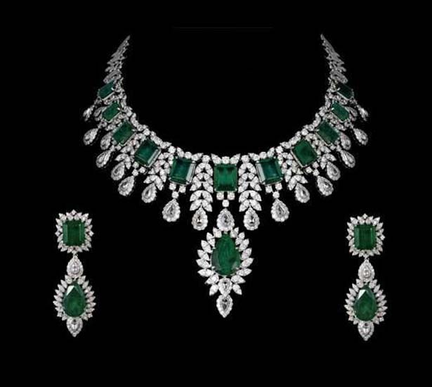 Emerald Bridal Necklace In Sterling Silver - Gleam Jewel