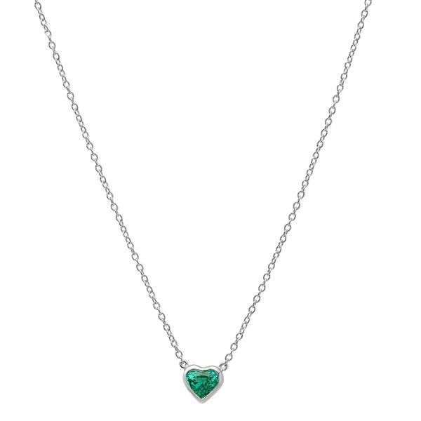 Precious Heart Shaped Emerald Necklace – Dana Seng Jewelry Collecti