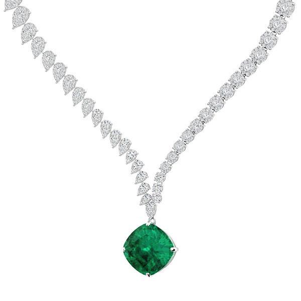 Emerald Necklaces   Emerald Pendants For Women   Pendants   Diamonde