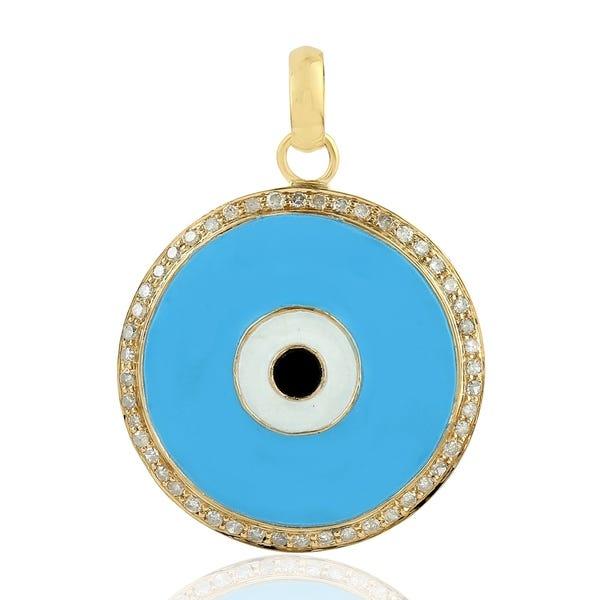 Shop 18Kt Gold Diamond Pendants Enamel Jewelry With Jewelry Box .