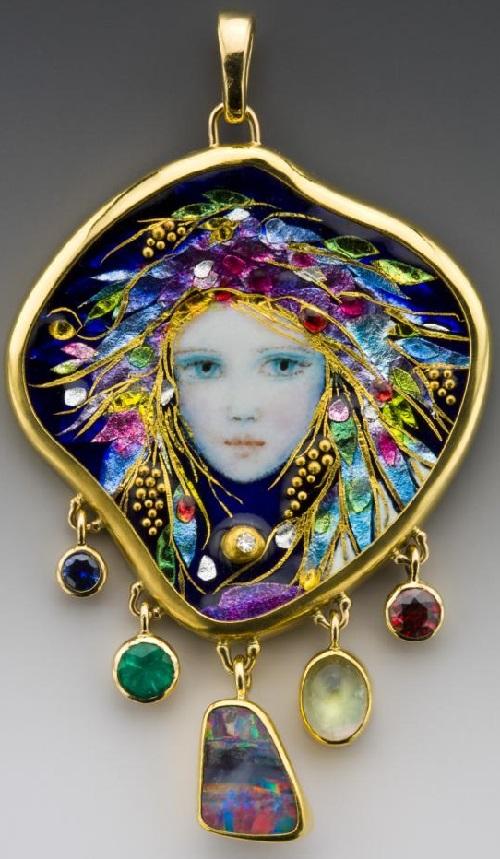 Mona and Alex Szabados Enamel Jewelry art - Art Kaleidosco