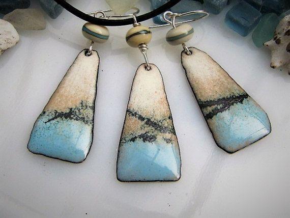 Enamel Jewelry Pendant Ocean Blue | Enameling jewelry, Torch fired .