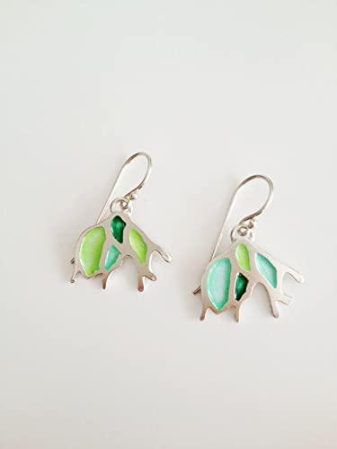 Amazon.com: Enamel Jewelry - Enameled sterling silver Earrings .