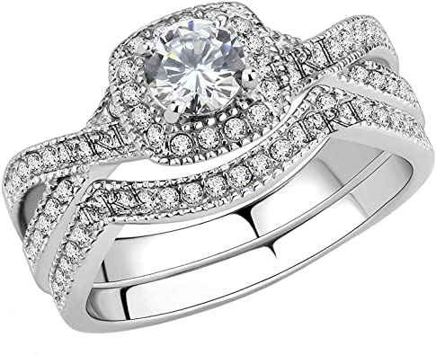 Amazon.com: FlameReflection Stainless Steel Rings for Women .
