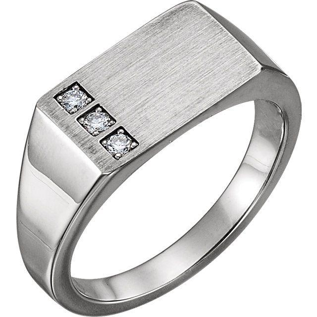 Stuller Fine Jewelry   Diamond signet ring, Rings for men, Signet .
