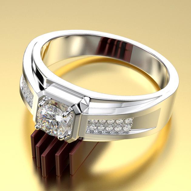 Wiley Hart Unique Men's Diamond Wedding Band Men's Engagement Ring M