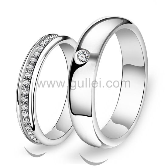 Personalized His and Hers Silver Eternity Rings Set for Two .