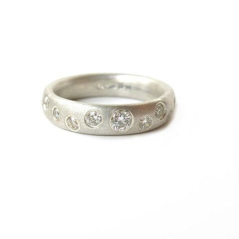 Contemporary Eternity Rings in 2020 | Diamond wedding bands, White .