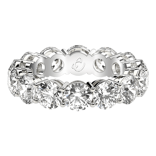 Diamond Eternity Rings: Round Cut, Emerald Cut, Princess Cut .