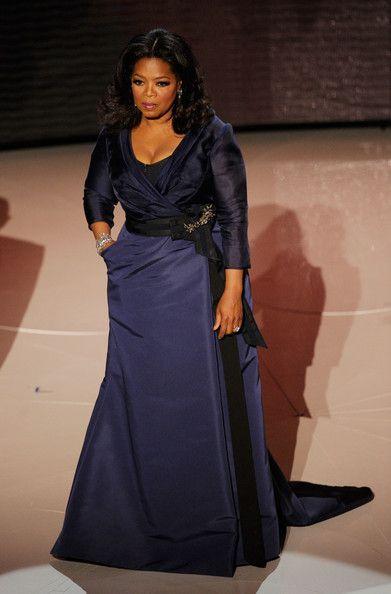 Oprah Winfrey Evening Dress in 2020 | Evening dresses plus size .