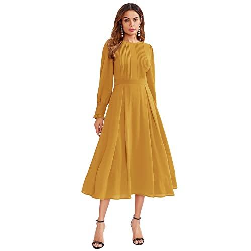 Yellow Fall Dress: Amazon.c