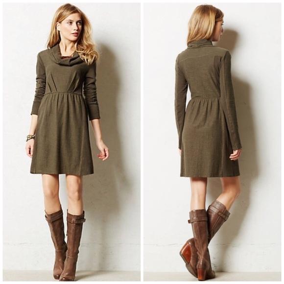 Anthropologie Dresses | Cowl Neck Long Sleeve Fall Dress | Poshma