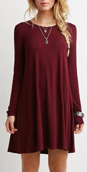 30 Cute And Cheap Fall Dresses | Fashion, Casual dresses, Long .