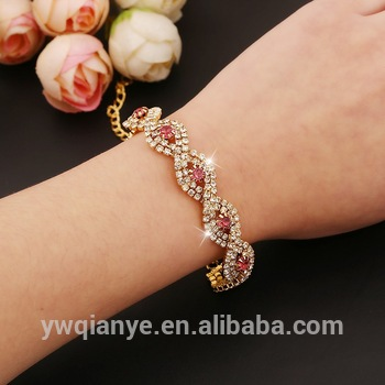 Crystal Claw Chain Interlaced Design Fashion Bracelets,Girls New .