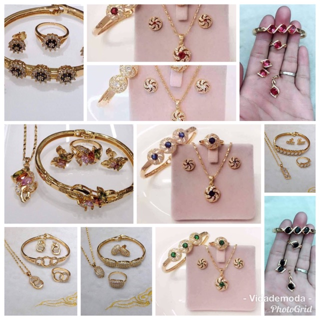 Fashion jewelries 4 in 1 set | Shopee Philippin