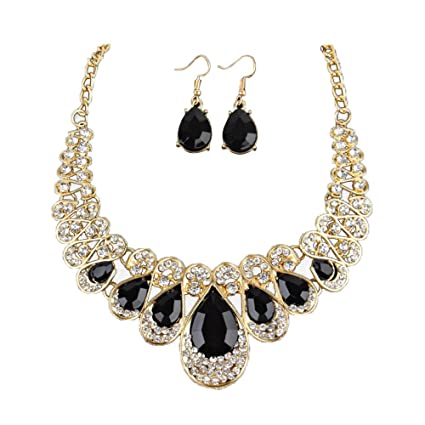 Amazon.com: Girls Necklace and Earring Set,Women Fashion Crystal .