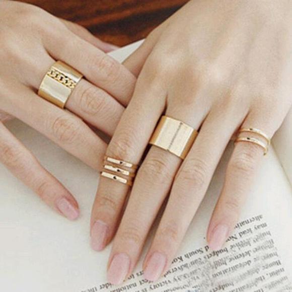 Champagne - Fashion Rings (3 Pcs.) – Treasures To Be Fou
