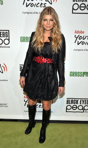 Fergie Knee High Boots - Fergie Boots Lookbook - StyleBist