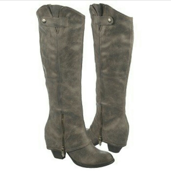 Fergie Shoes | Gray Suede Boots | Poshma