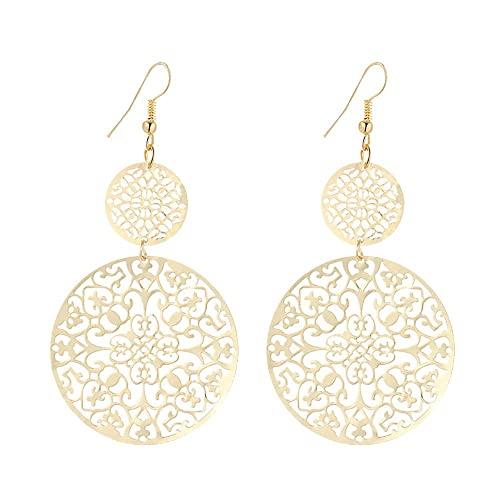 Gold Filigree Earrings: Amazon.c