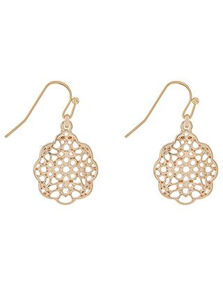 Simple Filigree Short Drop Earrings | Gold | One Size | 6849688100 .