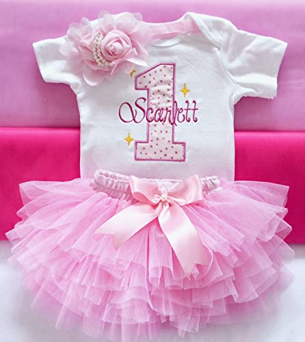 Amazon.com: Baby girl first birthday outfit,pink 1st birthday .