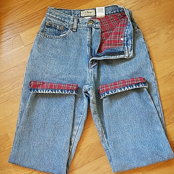 L.L. Bean Jeans | Ll Bean Vintage Flannel Lined High Waisted .