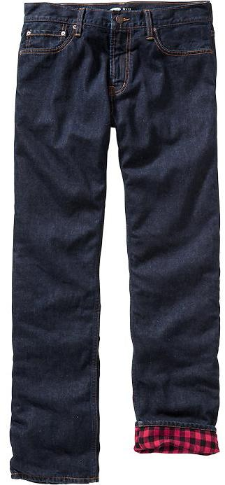 Old Navy Flannel Lined Jeans, $39   Old Navy   Lookastic.c
