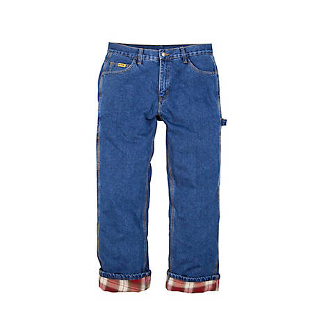 Berne Men's Flannel-Lined Denim Dungaree at Tractor Supply C