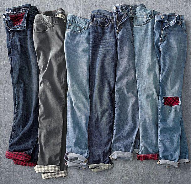 Women's Boyfriend Flannel-Lined Jeans   The ultimate jeans for .