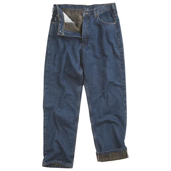 Carhartt Men's Relaxed Fit Straight Leg Flannel Lined Jeans .