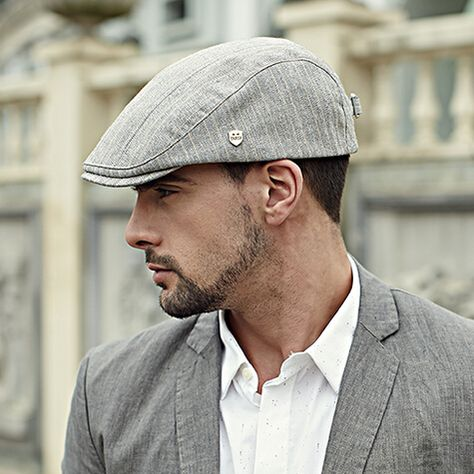 Gentleman flat cap stripe design mens hats for spring … | Hats for .