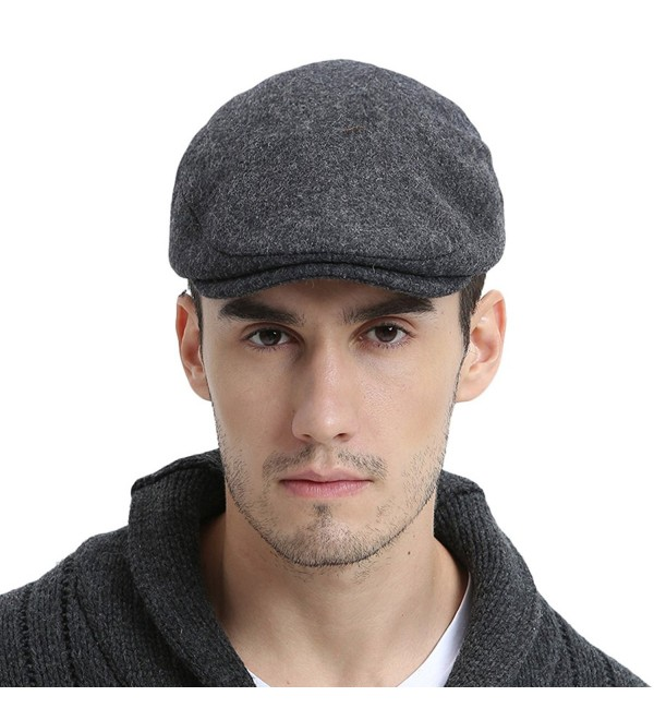 Mens Winter Wool Irish Tweed Caps newsboy Flat Cap Back Adjustable .