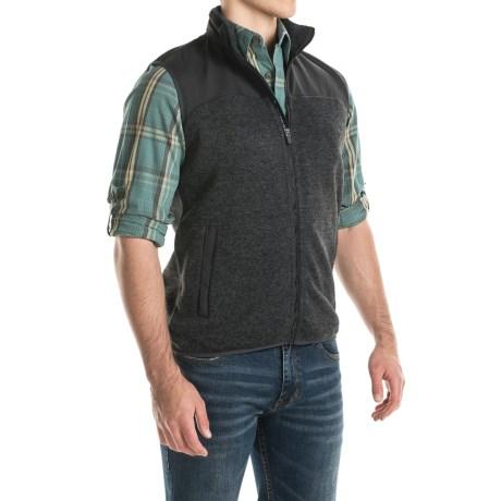 Woolrich Grindstone Men's Fleece Vest - Full Zip - Black Heather .