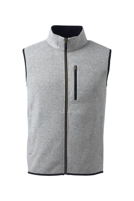 Men's Tall Sweater Fleece Vest, Jackets, Men's Activewear, Activewe