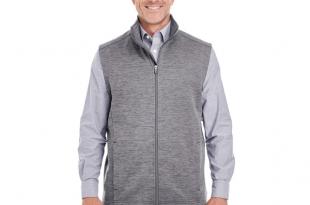 Devon & Jones® Men's Newbury Melange Fleece Vest   Victor .