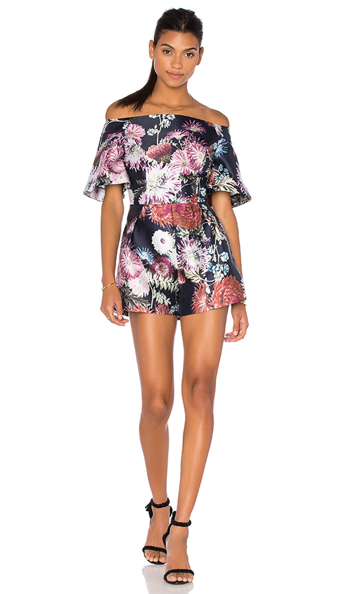 keepsake Stand Still Playsuit in Dark Floral Print | REVOL
