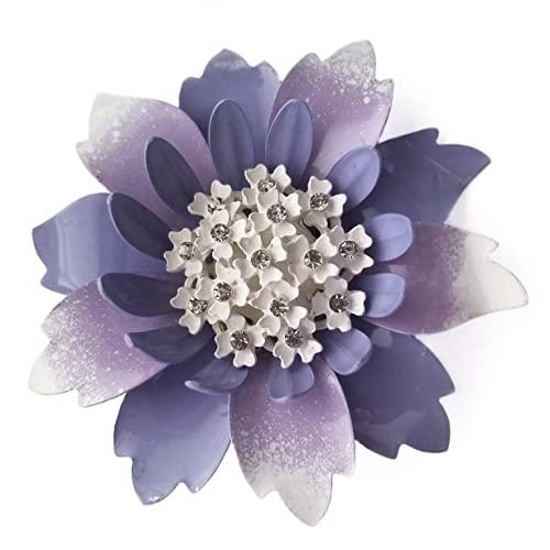 Amazon.com: Lavender Enamel Flower Brooch Pin: Handma
