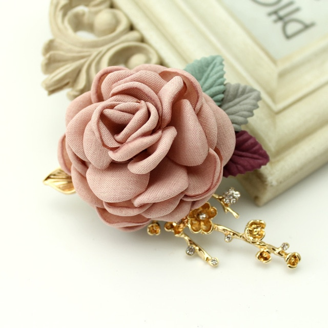 Fabric flower brooch jewelry brooch pin cardigan jacket beautiful .