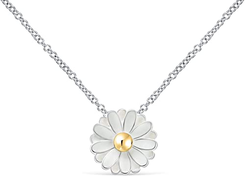 Amazon.com: ONDAISY Spring Daisy White Silver Color Flower Charm .