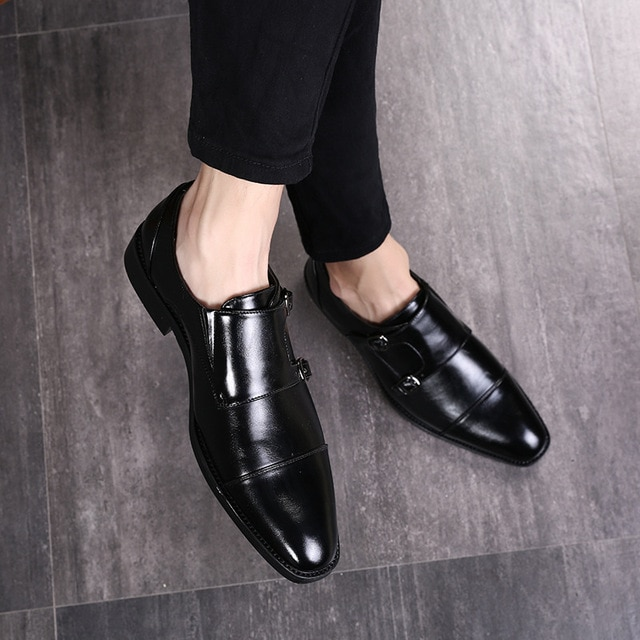 Italian Luxury Brand Leather Formal Shoes Men Classic Oxford Shoes .