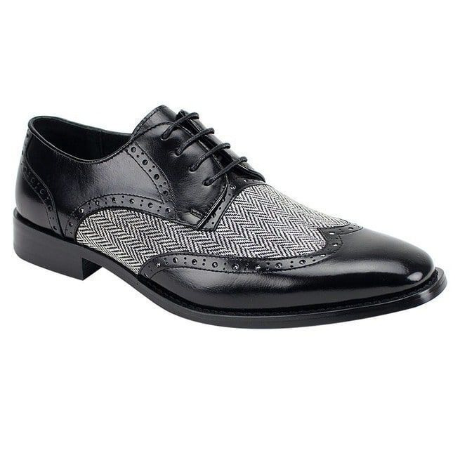 Handmade Mens Formal Shoes, Men Two Tone Wing Tip Dress | RebelsMark