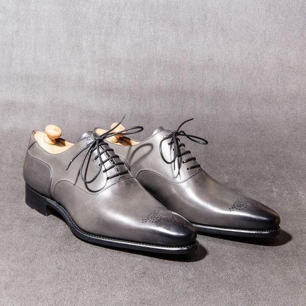 Richelieu...love the grey color | Dress shoes men, Leather formal .
