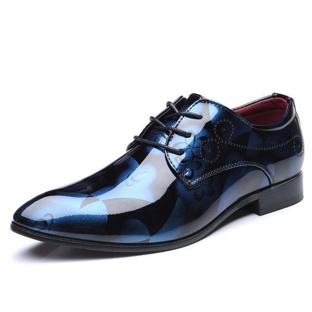 Cosidram Patent Leather Oxford Shoes For Men Dress Shoes Men .