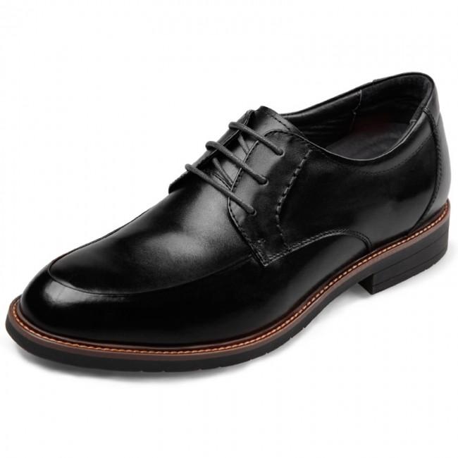 European Elevator Formal Shoes for Men 2.6inch / 6.5cm Black Lace .