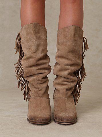 fringe boots | Fringe boots, Boots fall, Boo
