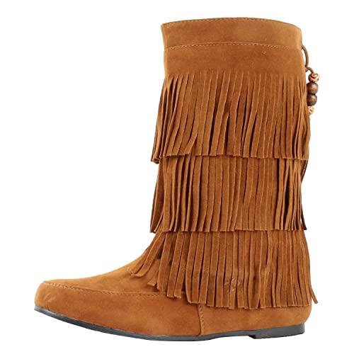 Fringe Women's Boots: Amazon.c