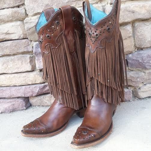 Women's Corral Sierra Brown Fringe Boots – Boot Love